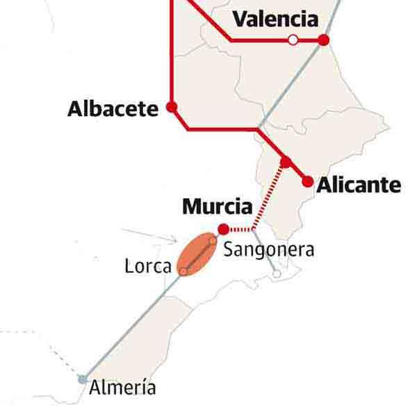 Expropiacion Via AVE Lorca Almeria Murcia Totana