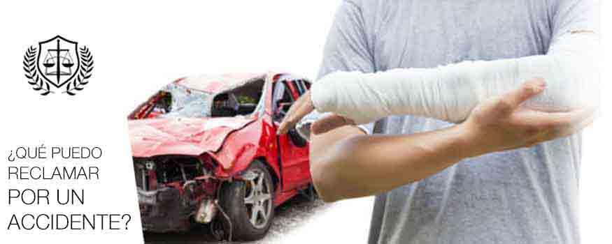Que puedo reclamar por un accidente