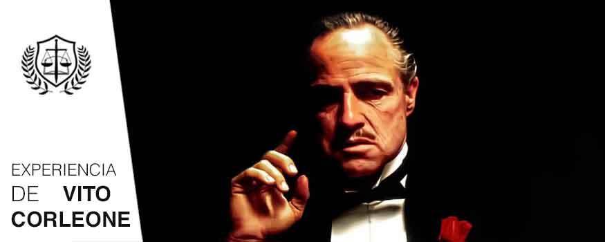 Rasgos de todo Perito experiencia de Vito Corleone