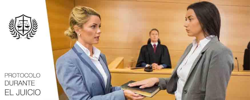 Protocolo durante el juicio