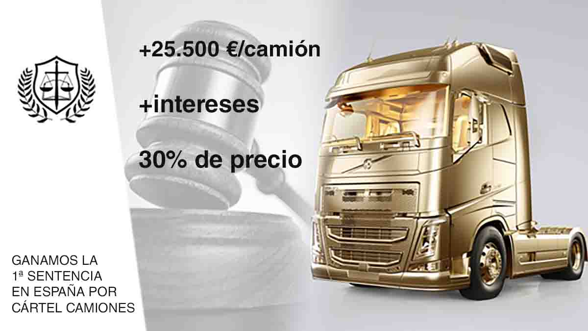 Informe pericial Cártel Camiones -> MÁXIMO HISTÓRICO (20,7%)